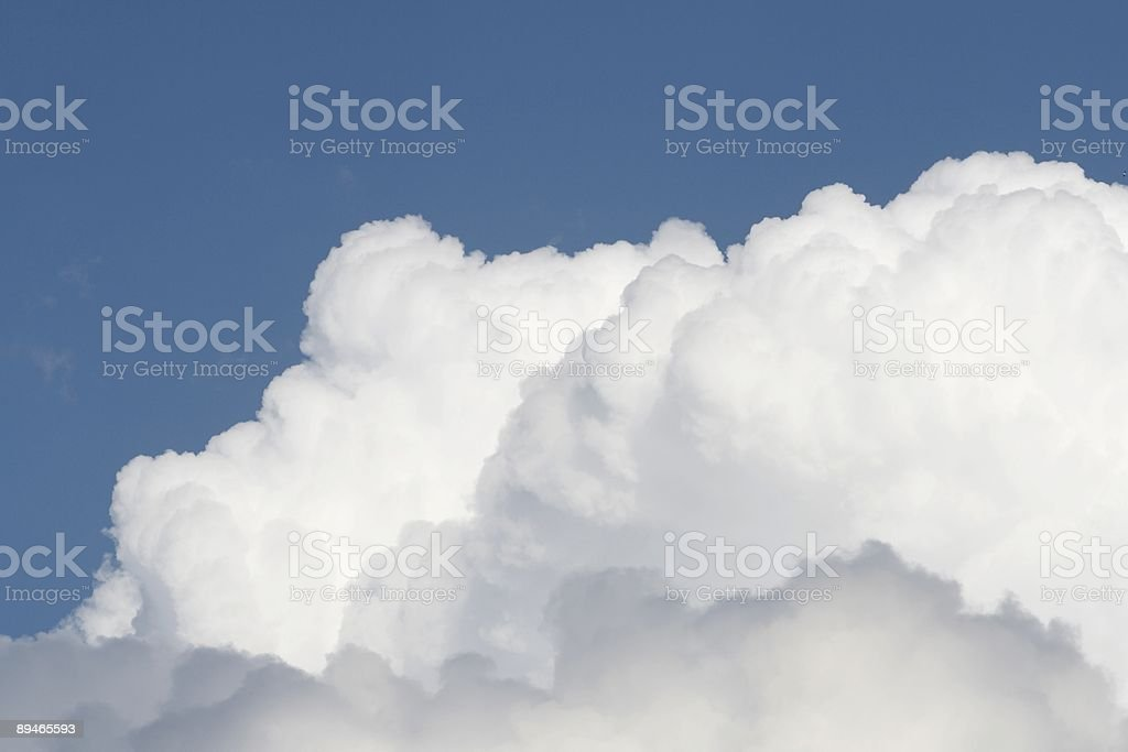 Heavy clouds royalty-free stock photo