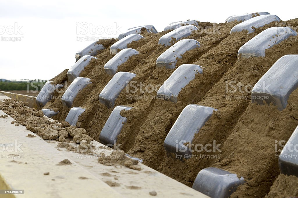 heavy compactor stock photo