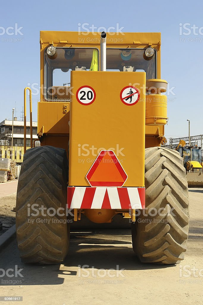 Heavy construction machine royalty-free stock photo
