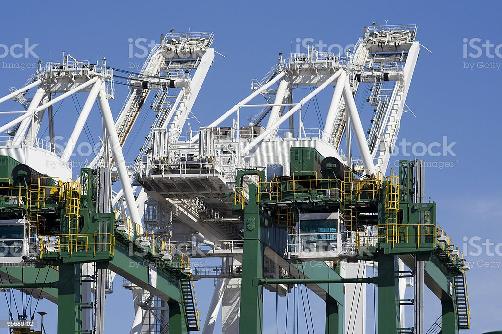 Heavy cranes royalty-free stock photo