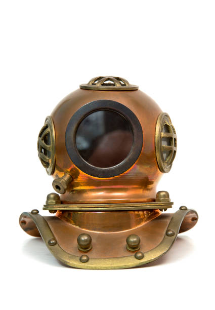 Heavy diving mask stock photo