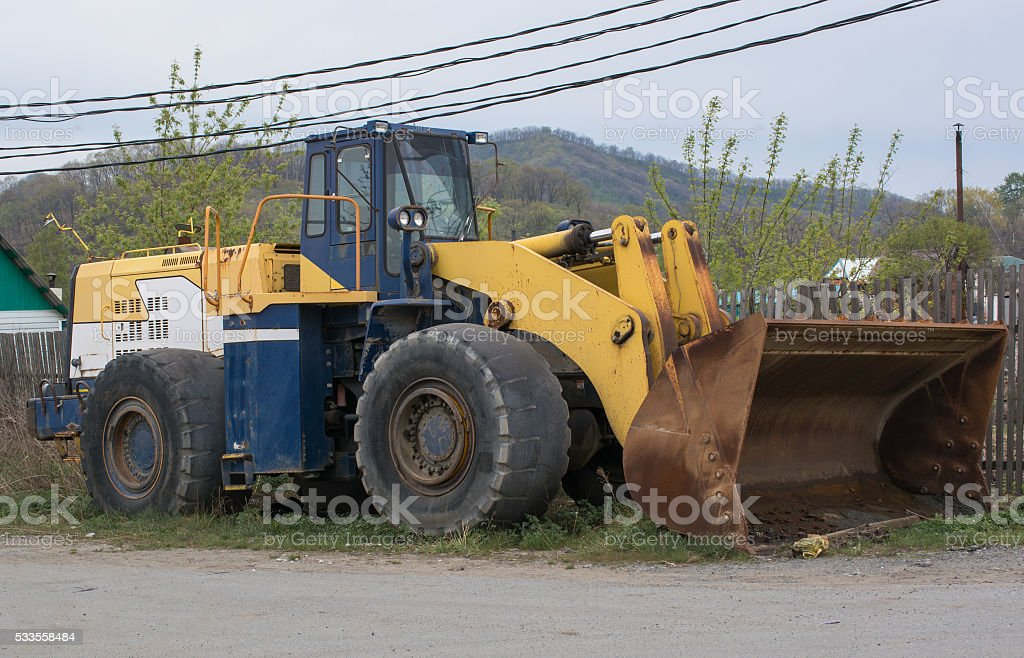 Heavy Dozer With Bucket stock photo