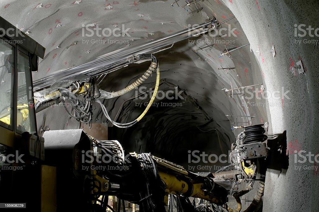 Heavy drilling rig stock photo