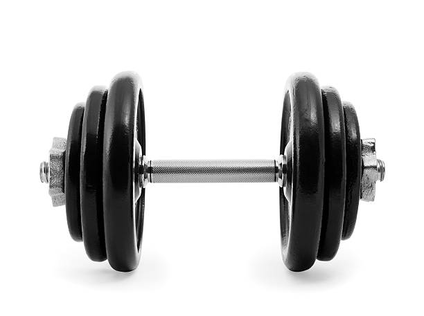 heavy dumbbell - dumbbell stock pictures, royalty-free photos & images