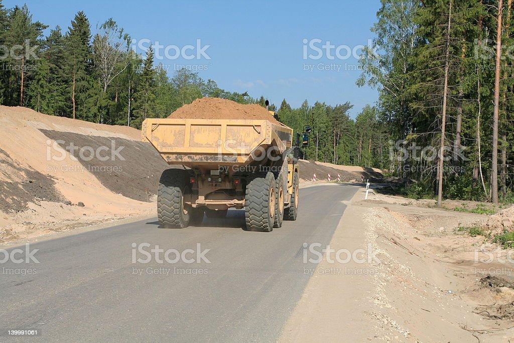 Heavy Dump Truck royalty-free stock photo