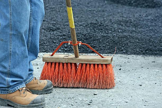 Heavy Duty Construction Broom stock photo