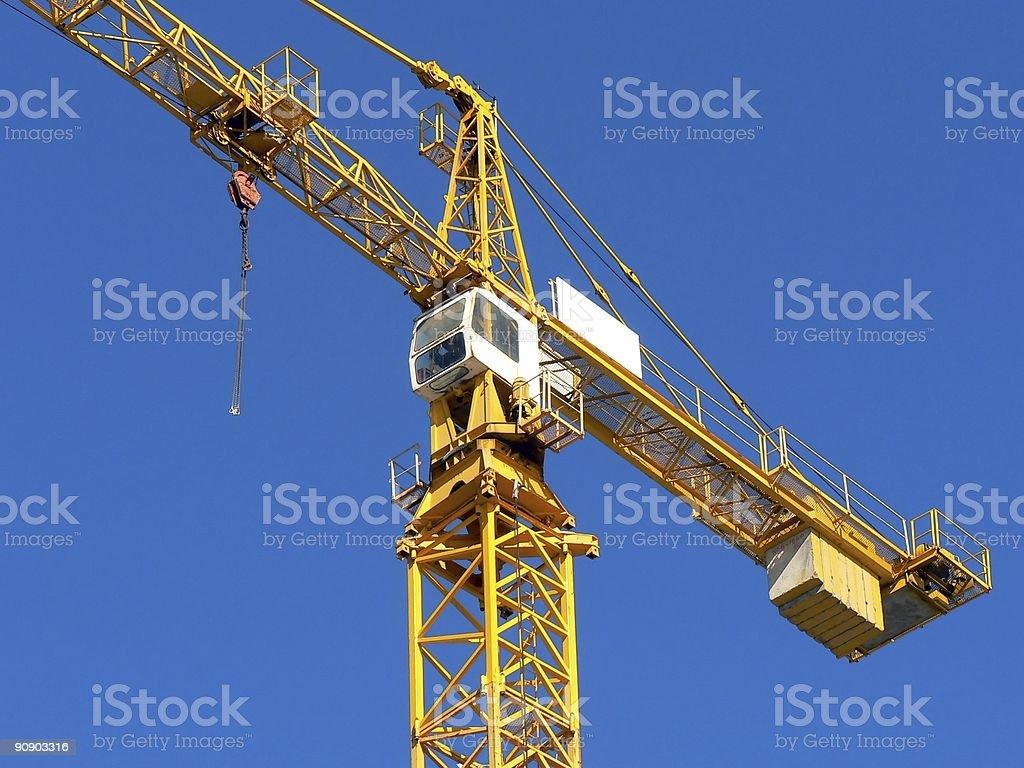 Heavy Duty Construction Crane stock photo
