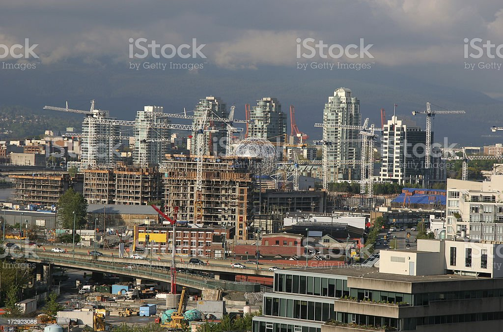 Heavy Duty Construction In Vancouver stock photo