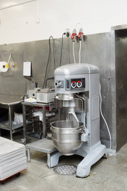Heavy duty dough mixing machine stock photo