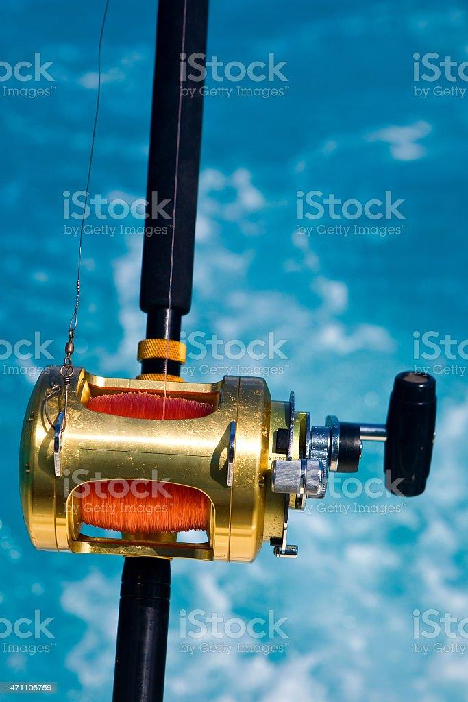 heavy duty metal deep sea sport leisure fishing reel royalty-free stock photo