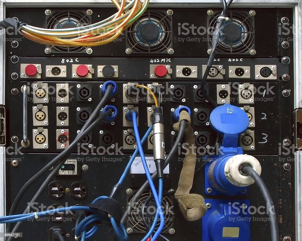 Heavy Duty Sound Amplifier stock photo