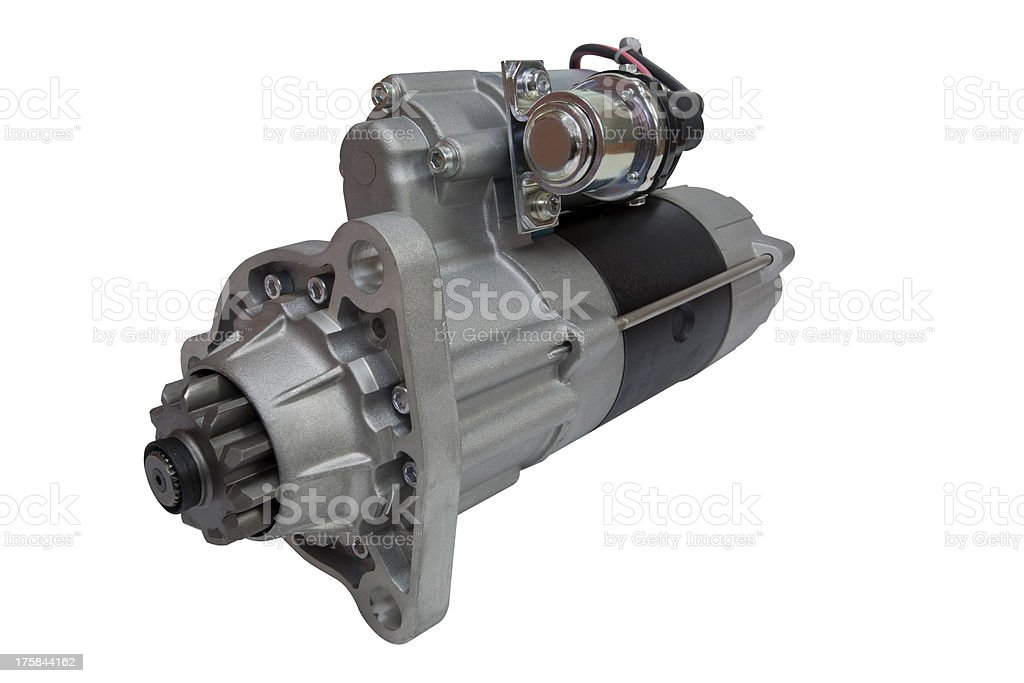 Heavy Duty Starter Motor stock photo