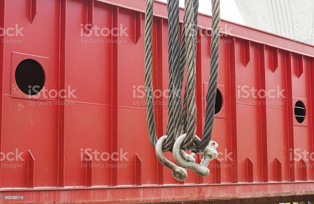 Heavy duty steel wire rope sling stock photo