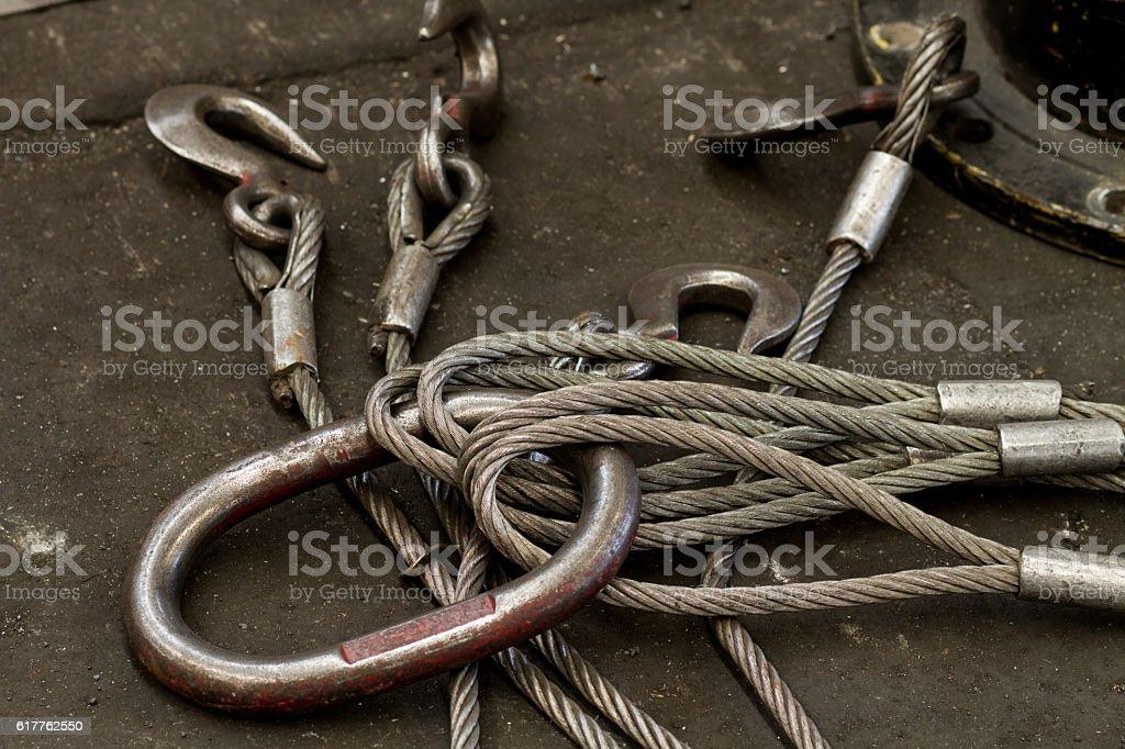 Heavy Duty Steel Wire Rope Sling stock photo 617762550   iStock