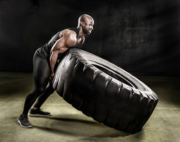 Heavy duty tire lift. stock photo