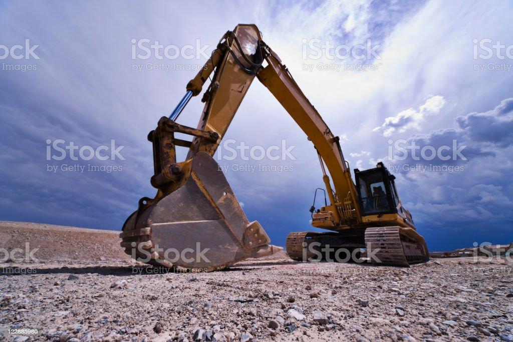 Heavy Equipment Hydraulic Excavator stock photo