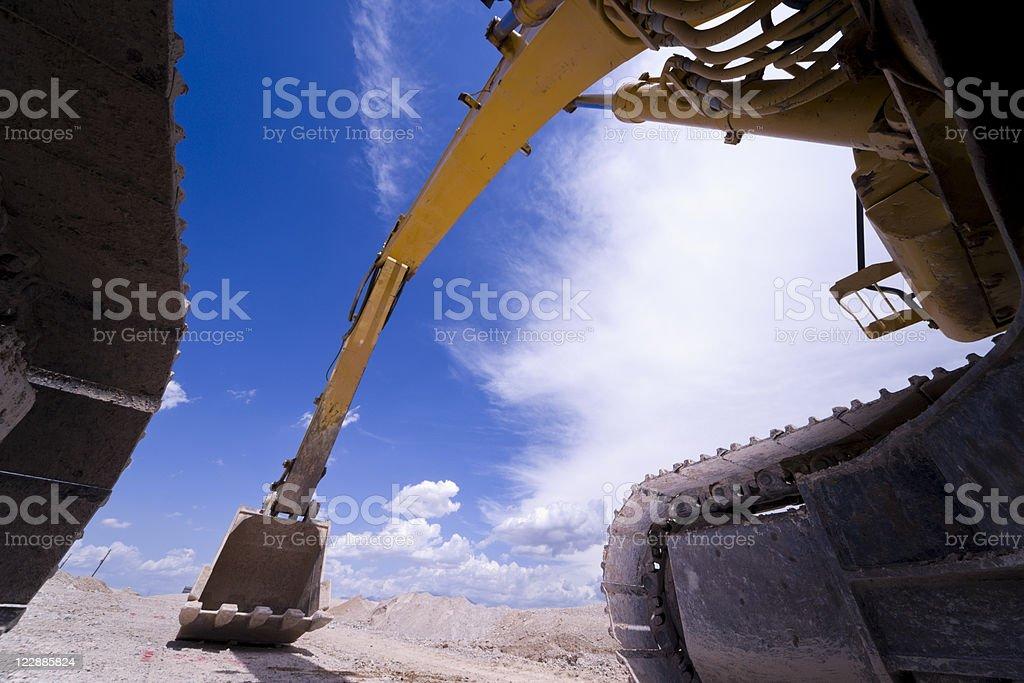 Heavy Equipment Hydraulic Excavator Shovel royalty-free stock photo