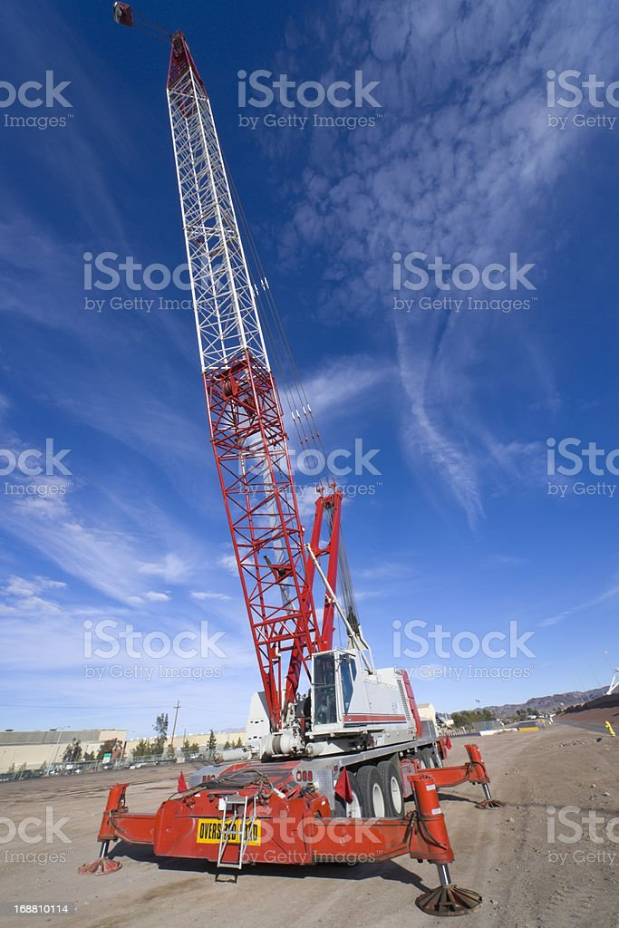 Heavy Equipment Mobile Crane royalty-free stock photo