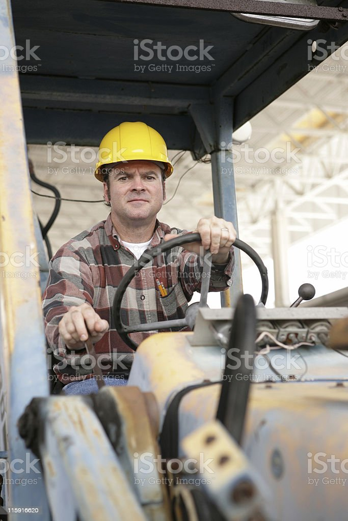 Heavy Equipment Operator stock photo