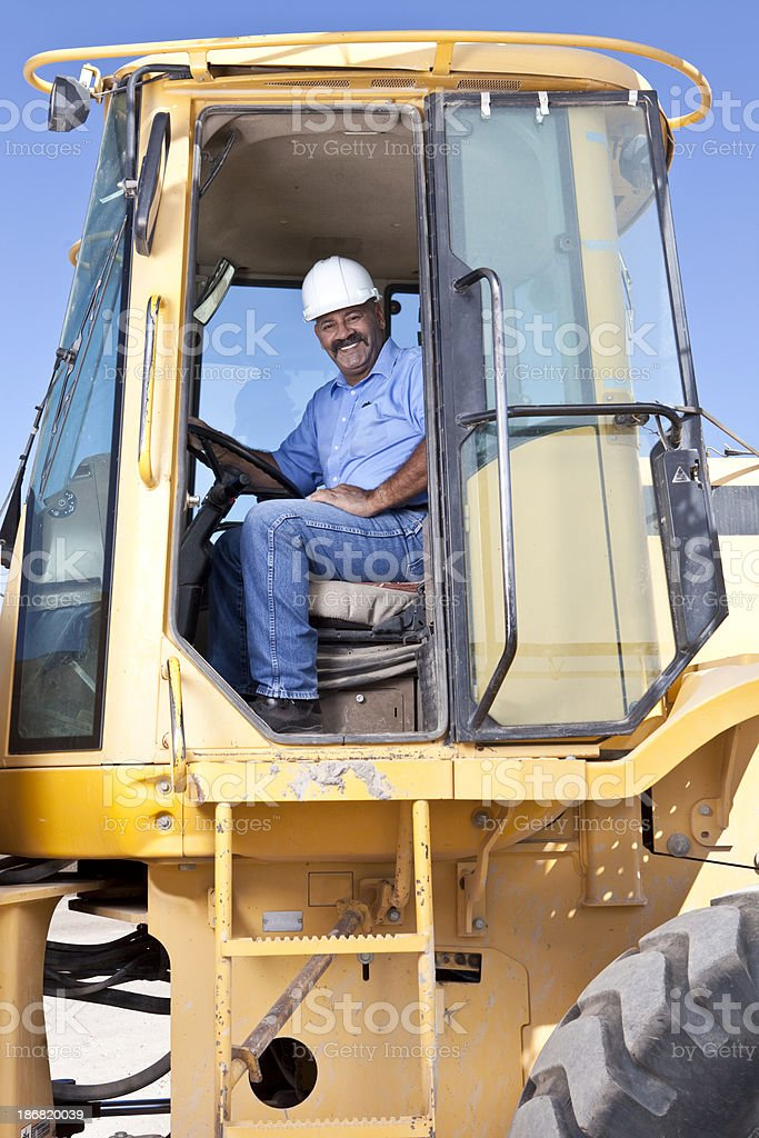 Heavy equipment operator royalty-free stock photo