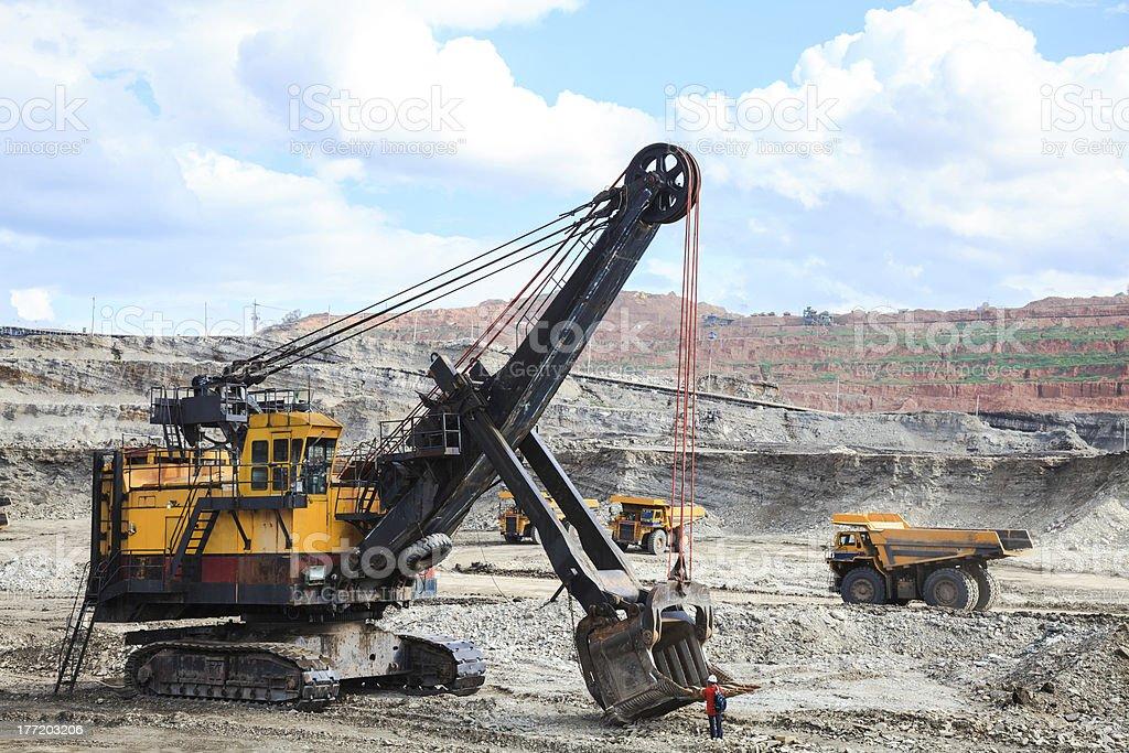 Heavy equipment stock photo
