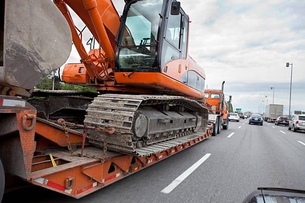 Heavy Equipment Transport stock photo