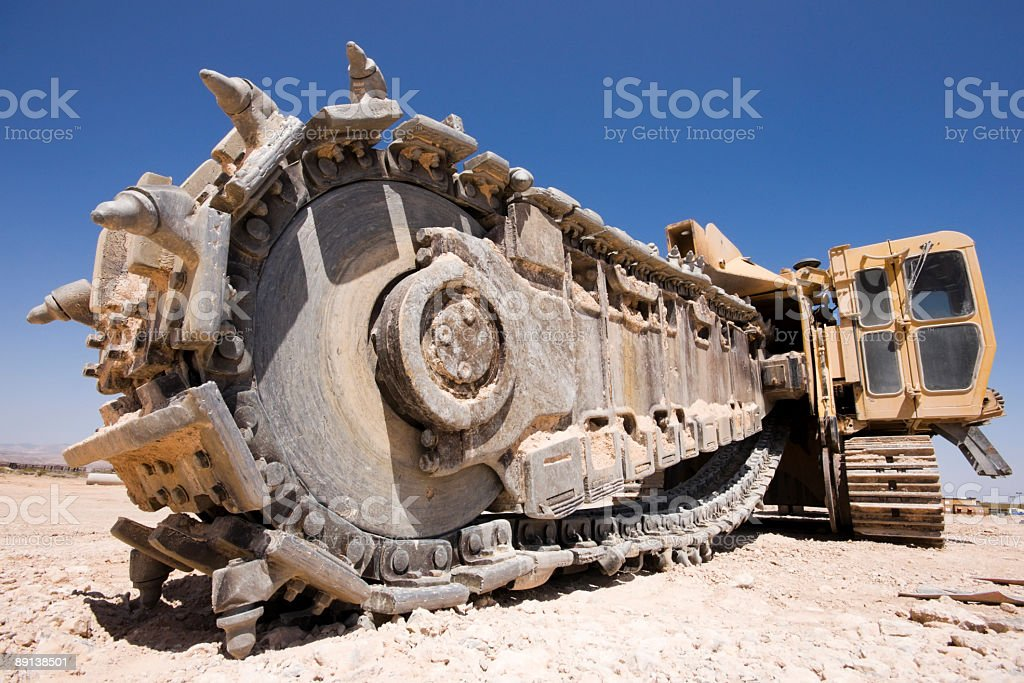 Heavy Equipment Trench Digger royalty-free stock photo
