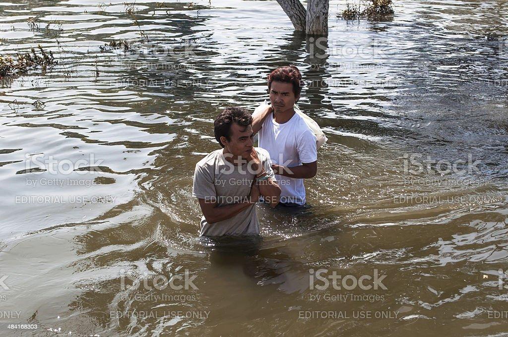 Heavy flood stock photo