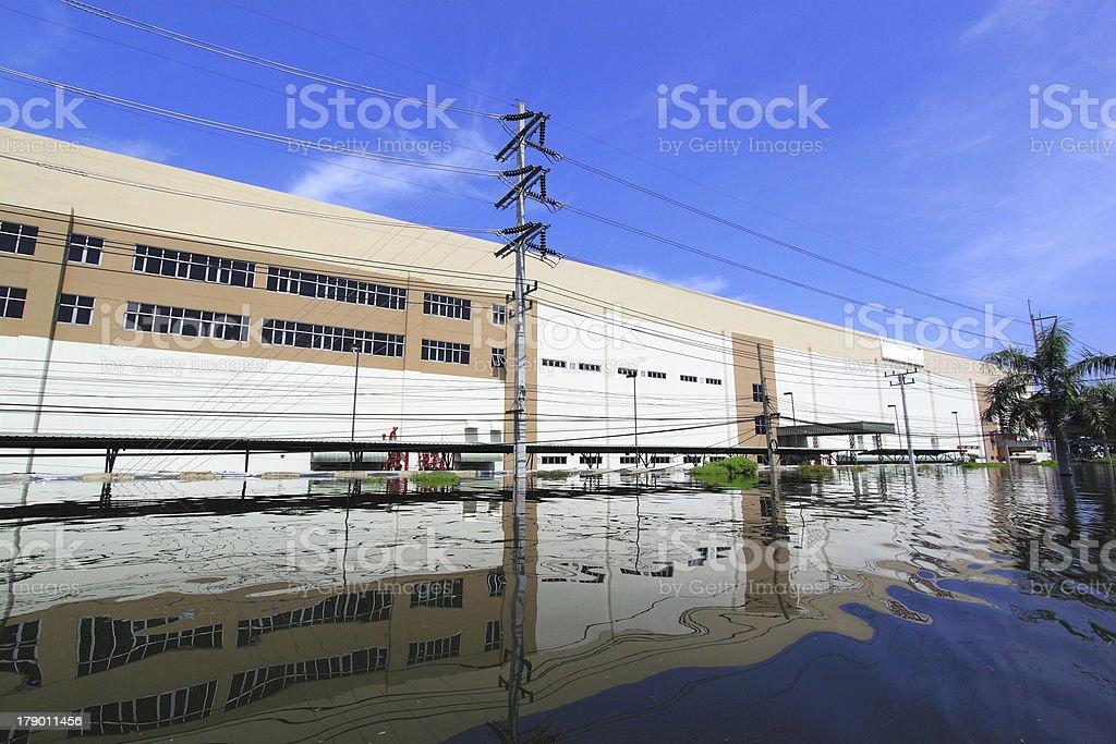 Heavy flooding stock photo