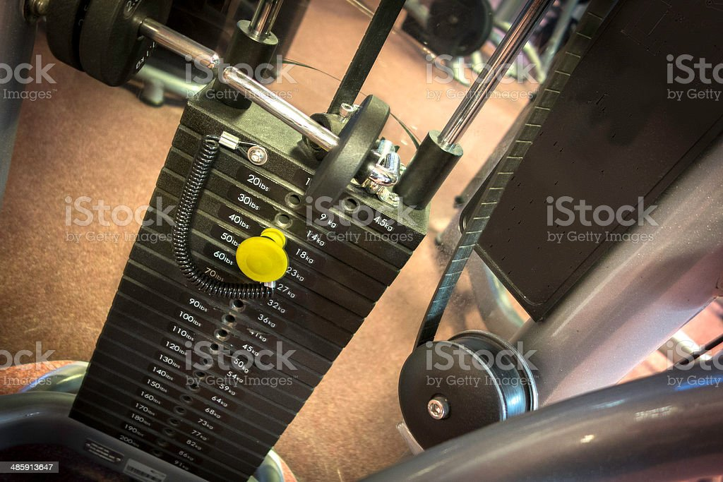 Heavy Gym Machine stock photo