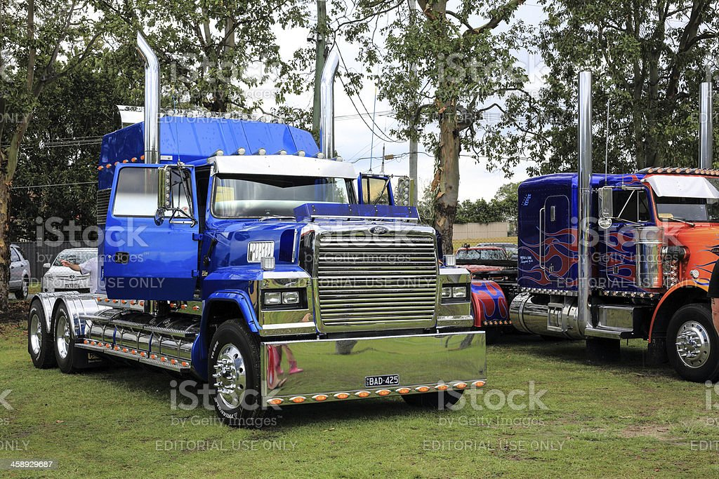Heavy haulage truck on display royalty-free stock photo