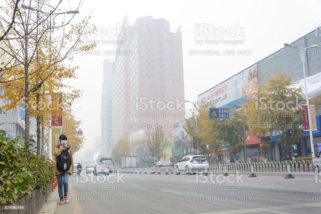 Heavy hazy weather stock photo
