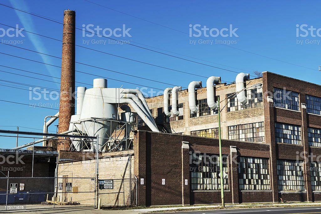 Heavy Industry in Avalon Park, Chicago royalty-free stock photo
