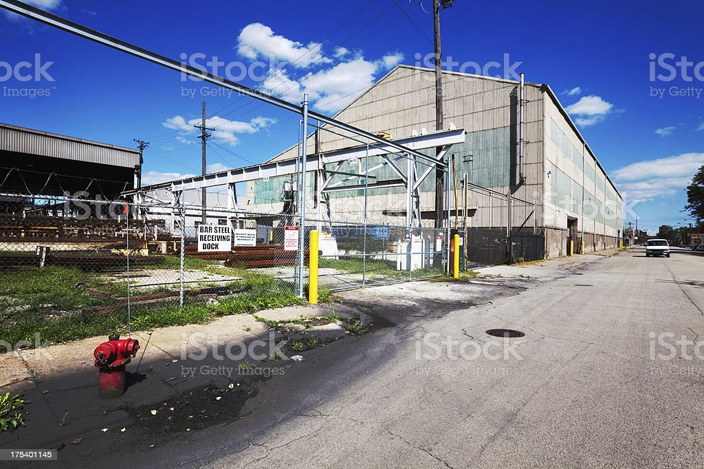 Heavy Industry in Fuller Park, Chicago royalty-free stock photo