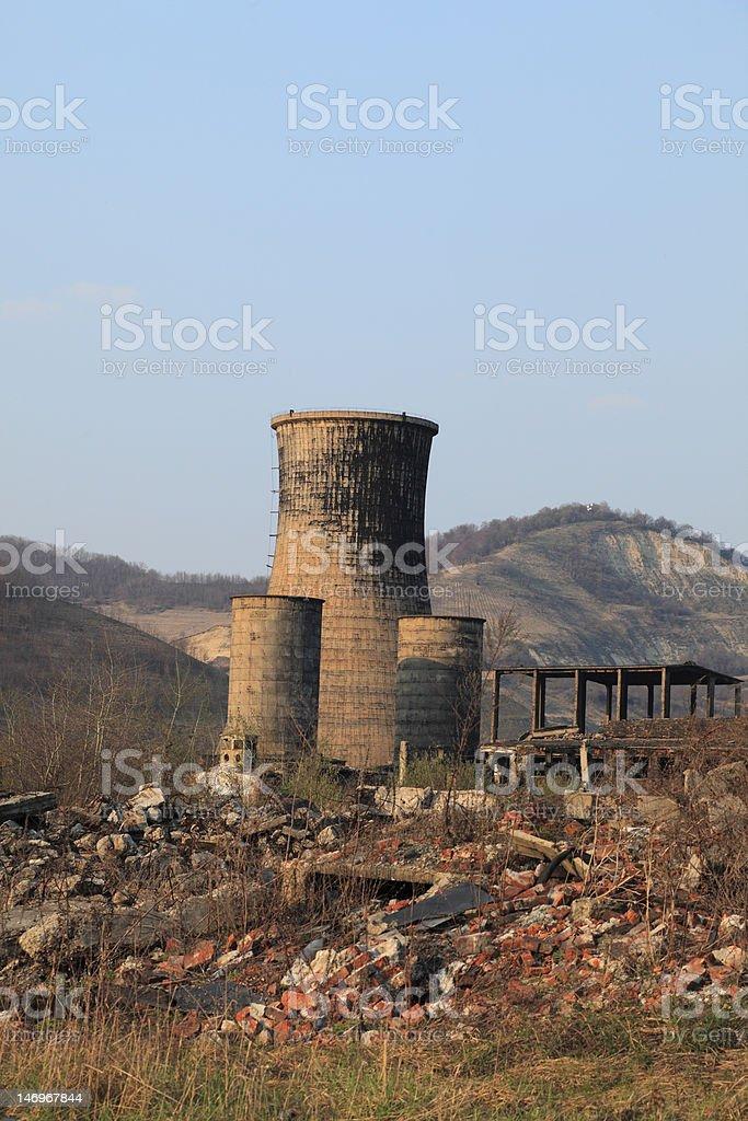 Heavy Industry Ruins royalty-free stock photo