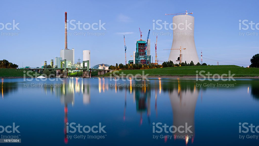 Heavy Industry With Reflection royalty-free stock photo