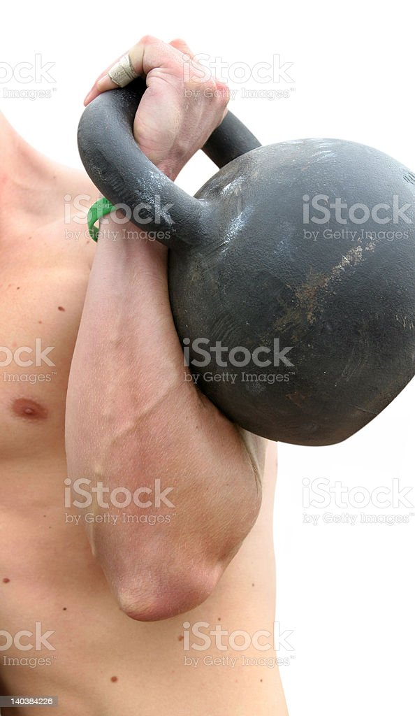 Heavy lifting stock photo