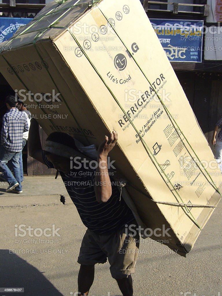 Heavy load stock photo