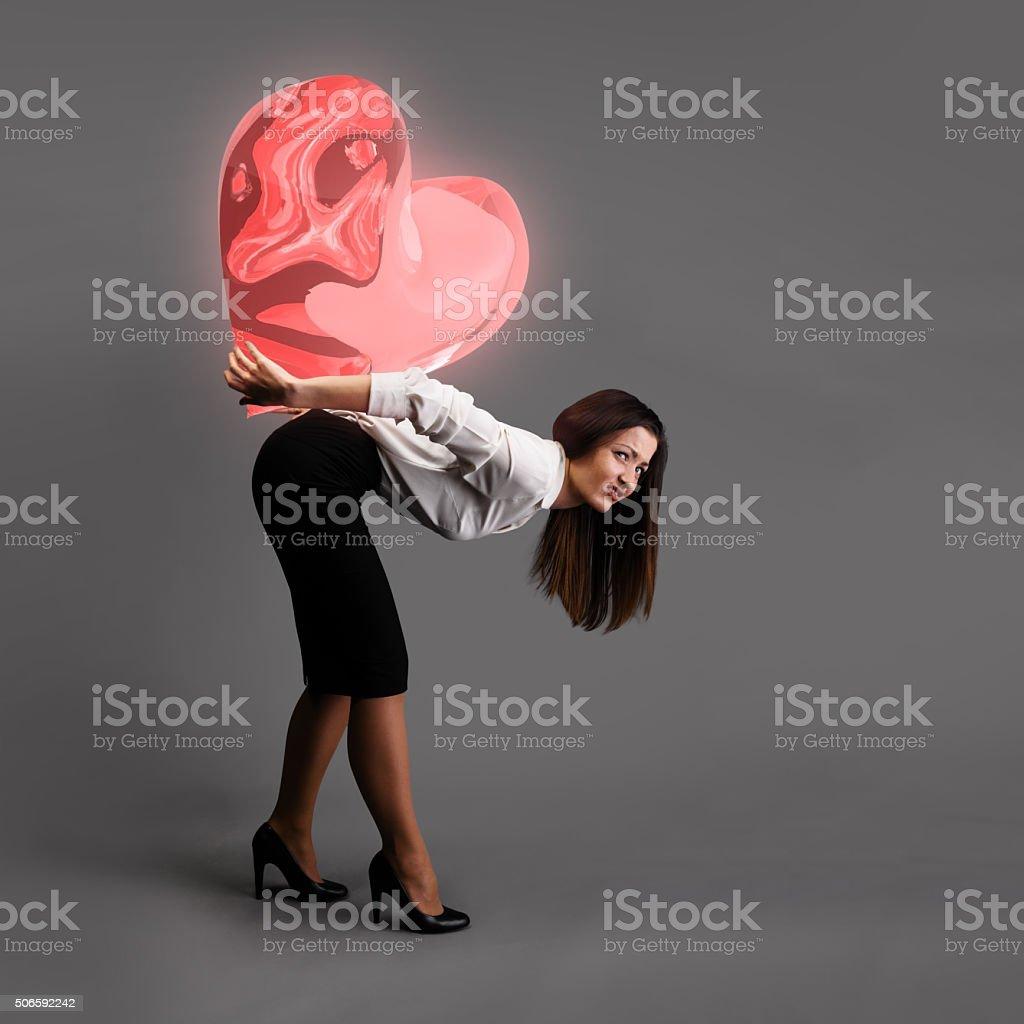 Heavy love concept stock photo
