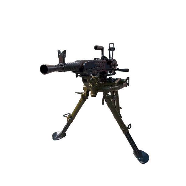heavy machine gun isolated on a white background heavy machine gun isolated on a white background stock photo antiaircraft stock pictures, royalty-free photos & images