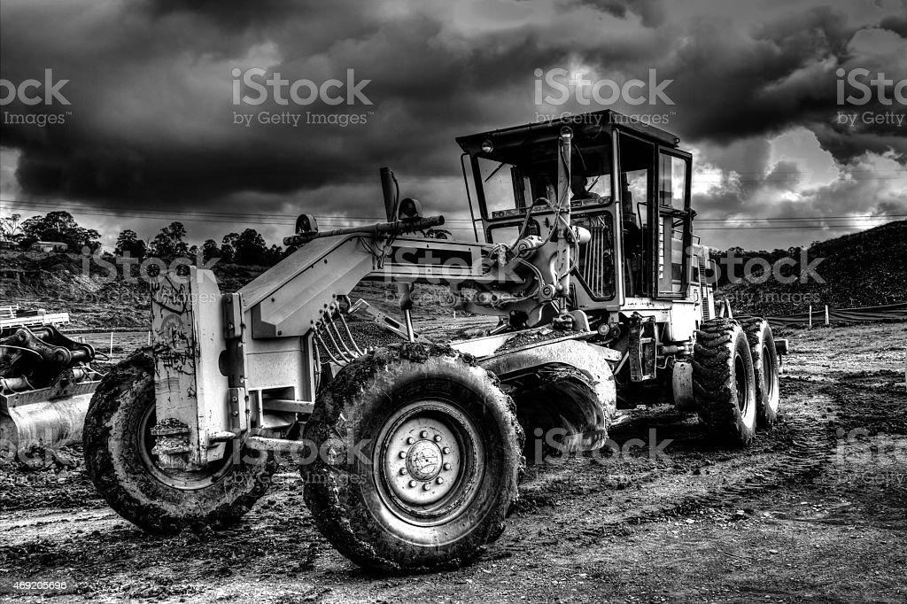Heavy Machinery Grader HDR stock photo