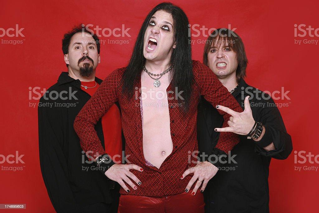 Heavy Metal Band 04 royalty-free stock photo