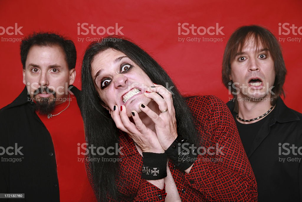 Heavy Metal Band 05 royalty-free stock photo