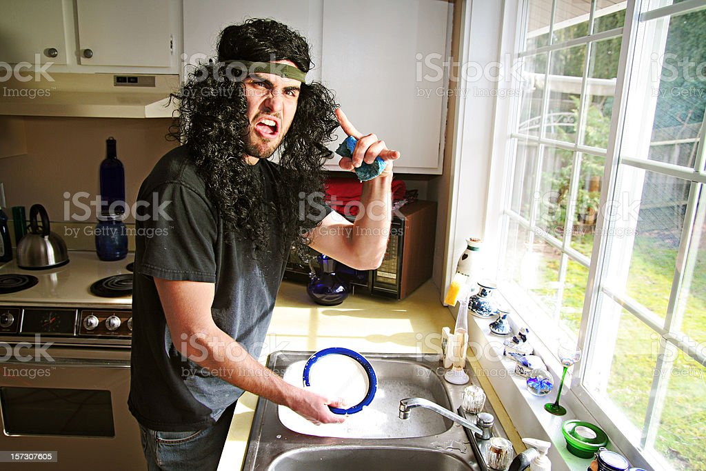 Heavy Metal Man Bachelor Life stock photo
