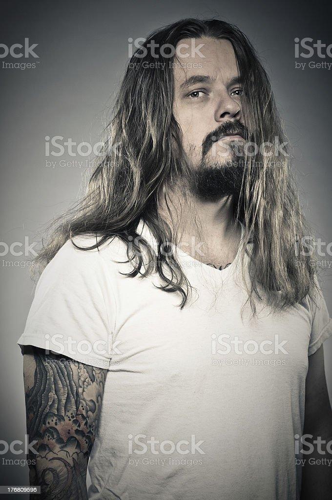 Heavy Metal Man Portrait stock photo