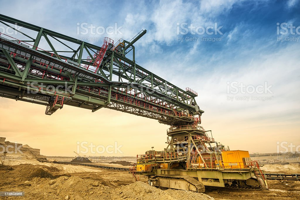 Heavy mining drill machine royalty-free stock photo