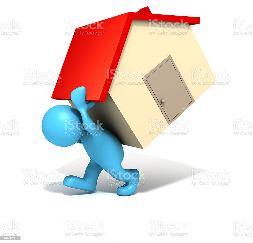 Heavy mortgage royalty-free stock photo
