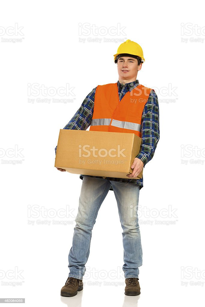 Heavy package. royalty-free stock photo