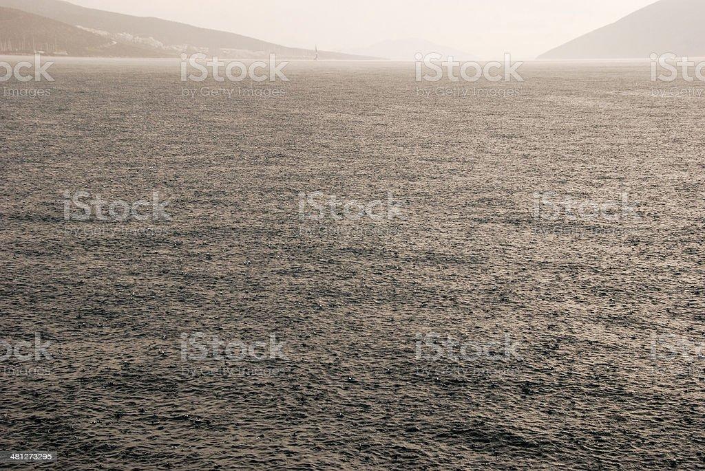 heavy rain and the sea