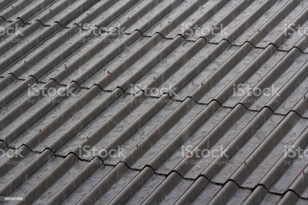 heavy rain drop on house roof. weather forecast. Concept : repair or...